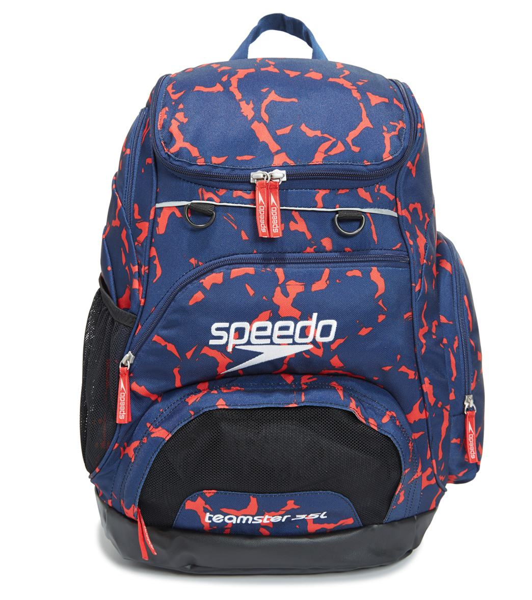 Speedo Printed Teamster 35L Open Water Swimming Backpack