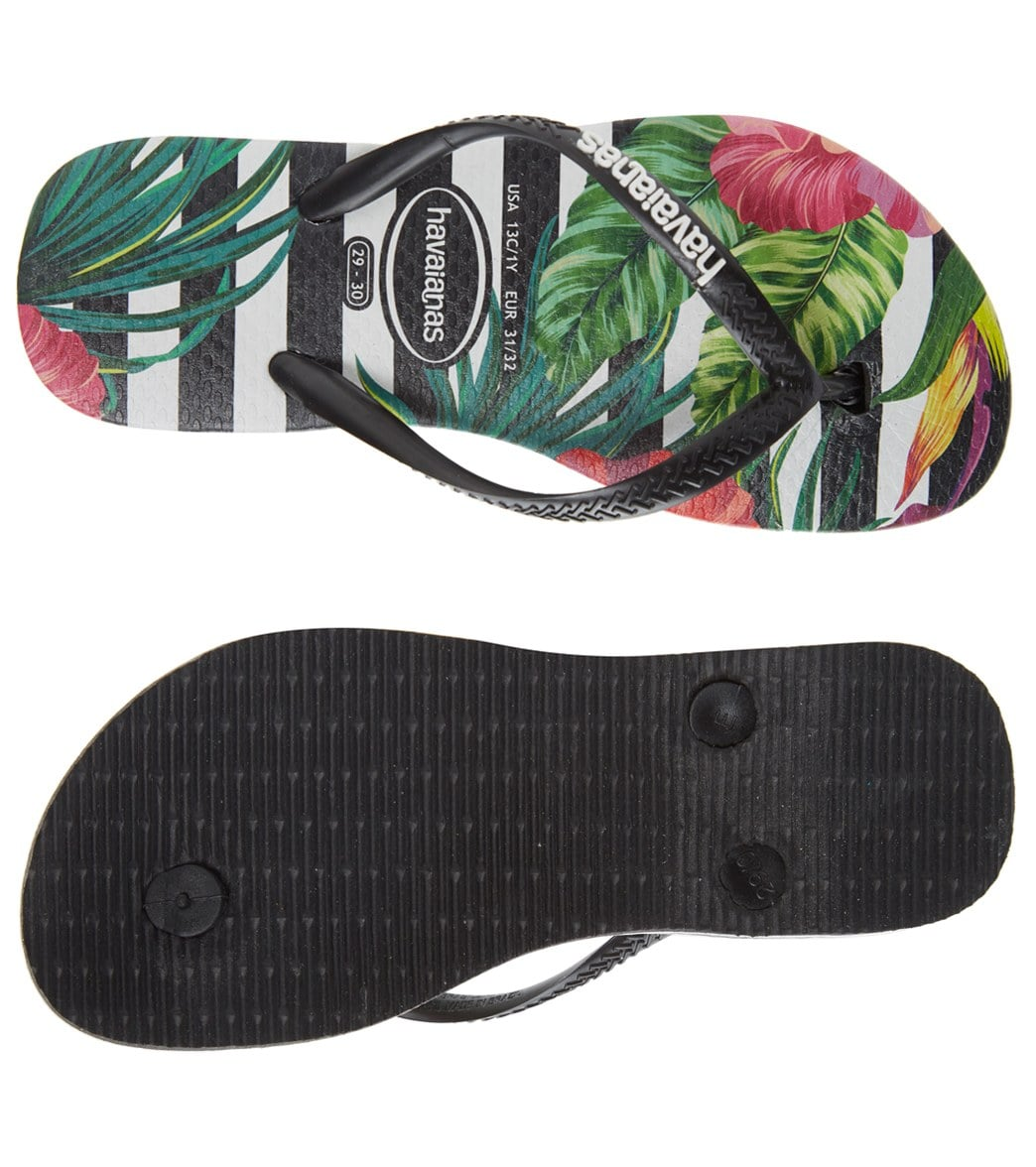 7f27df8da5dd Havaianas Kids  Slim Tropical Floral Sandal (Toddler