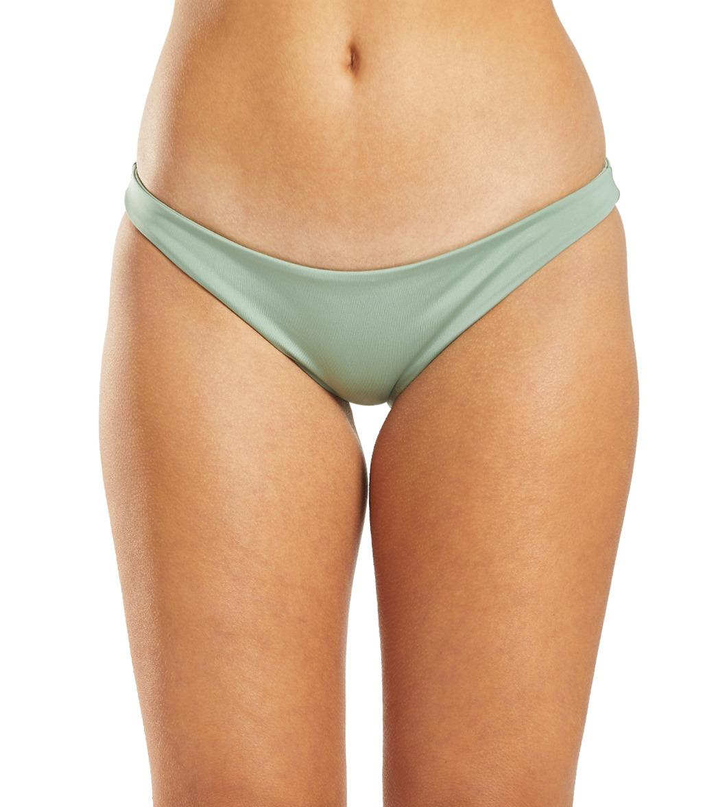 Hurley Women's Quick Dry Rib Moderate Coverage Bikini Bottom