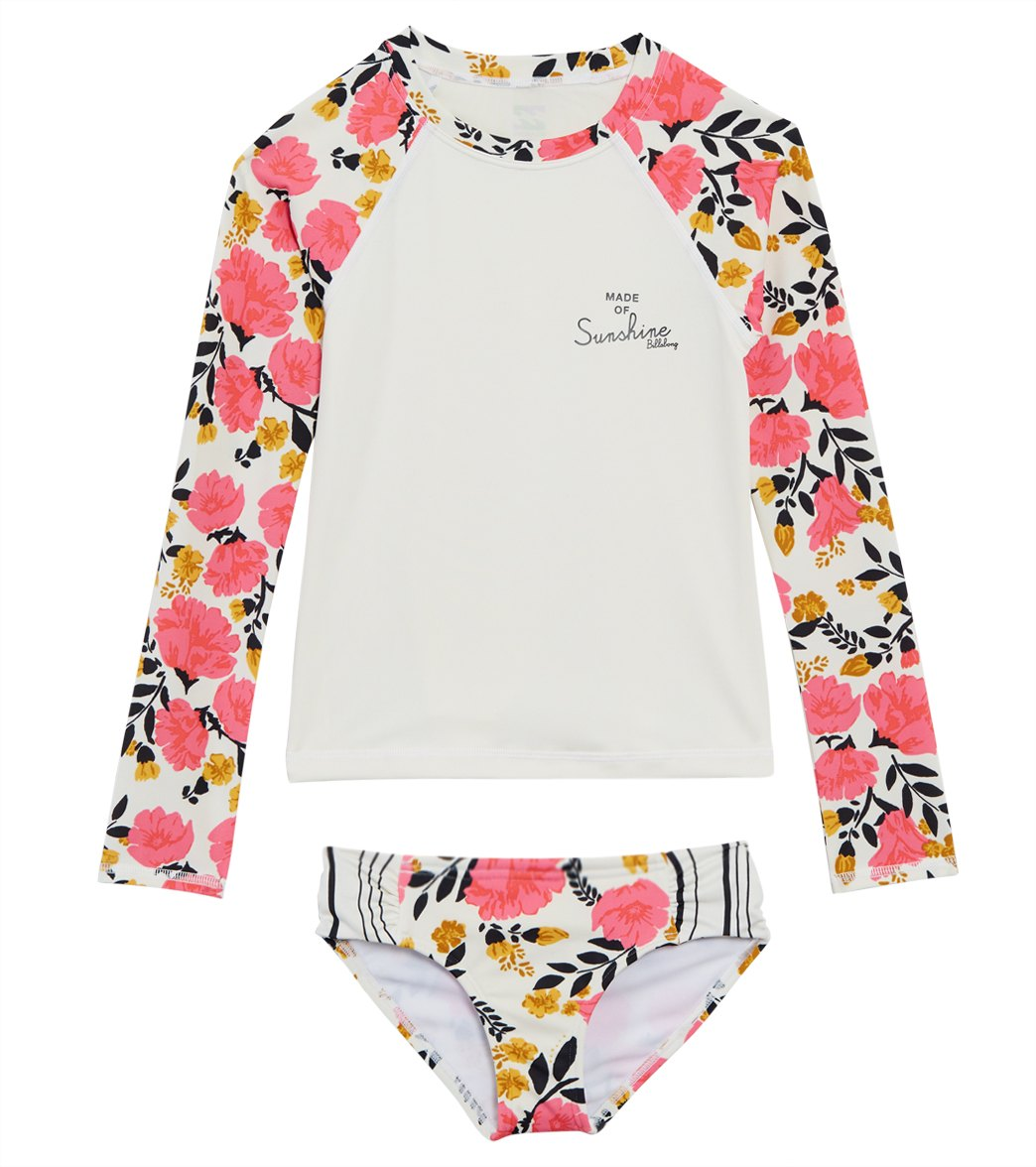 943bed35c2034 Billabong Girls' Sun Dream Long Sleeve Rash Guard Set (Little Kid, Big Kid)  at SwimOutlet.com - Free Shipping