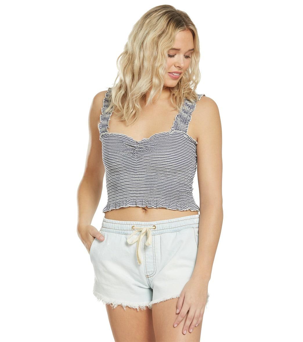 Aura Women/'s Sleeveless Casual Tank Top Fashion Shirt Crop Top Belly Shirt