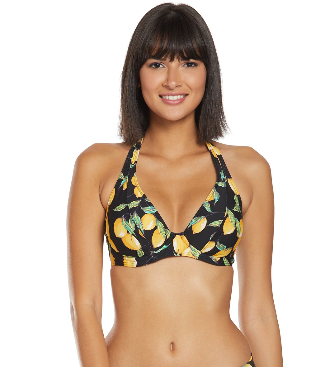 313605fd9557d Sunsets Limoncello Muse Halter Bikini Top (D/DD Cup) at SwimOutlet ...