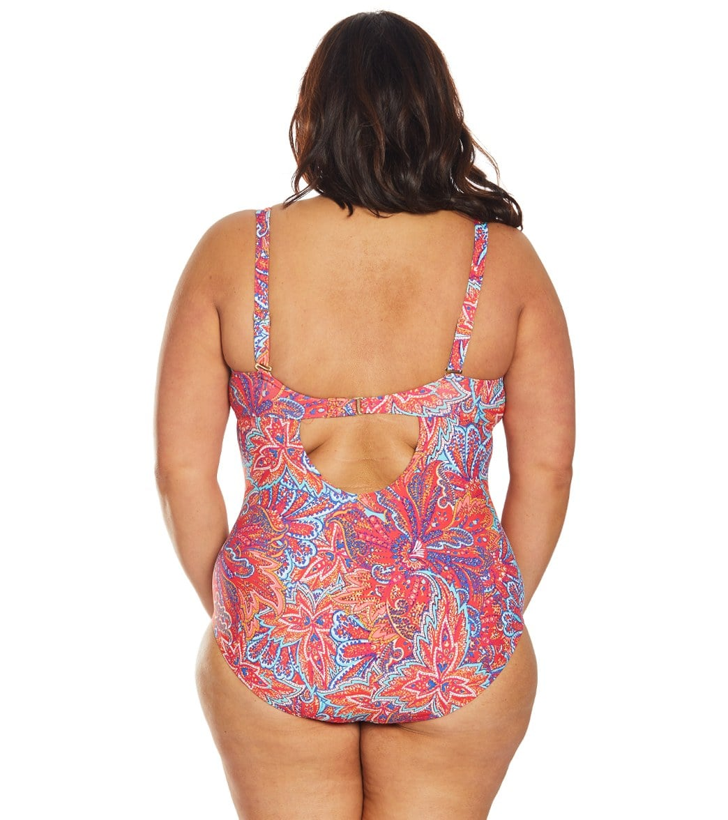 44bce7e91f Sunsets Curve Plus Size Samba Sasha Crossover One Piece Swimsuit at  SwimOutlet.com - Free Shipping