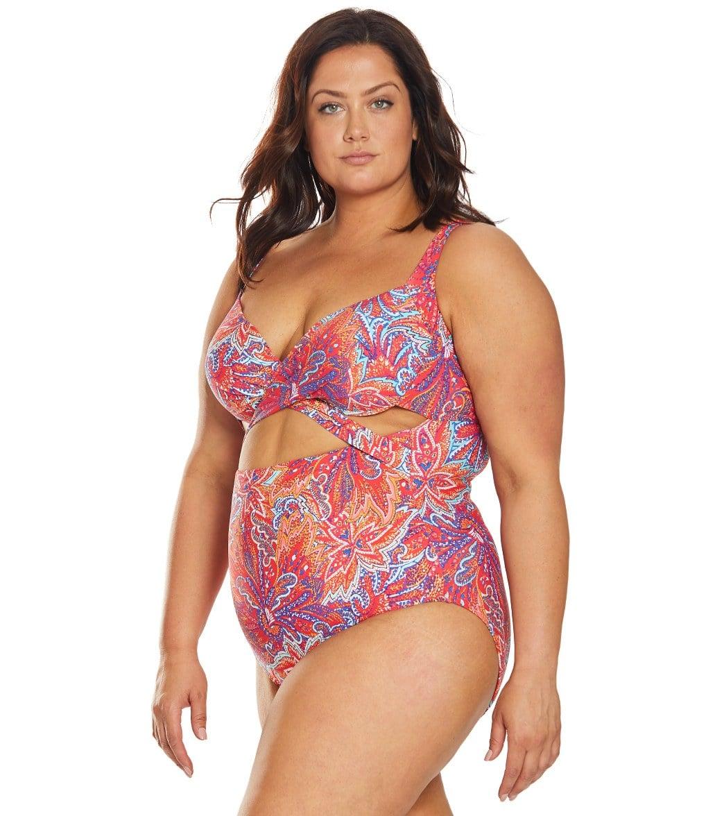 37f57cdf9c Sunsets Curve Plus Size Samba Sasha Crossover One Piece Swimsuit at ...