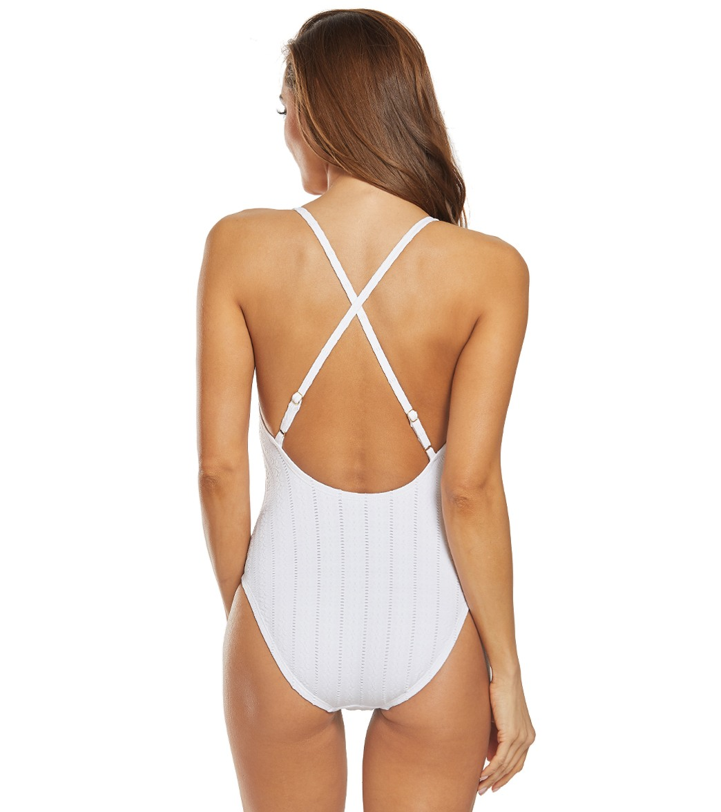 090fda9535 Kenneth Cole Reaction Flower Child Tie One Piece Swimsuit at ...