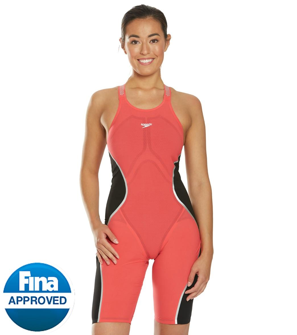 bbf7704390557 Speedo Women's LZR Pure Intent Closed Back Kneeskin Tech Suit Swimsuit at  SwimOutlet.com - Free Shipping