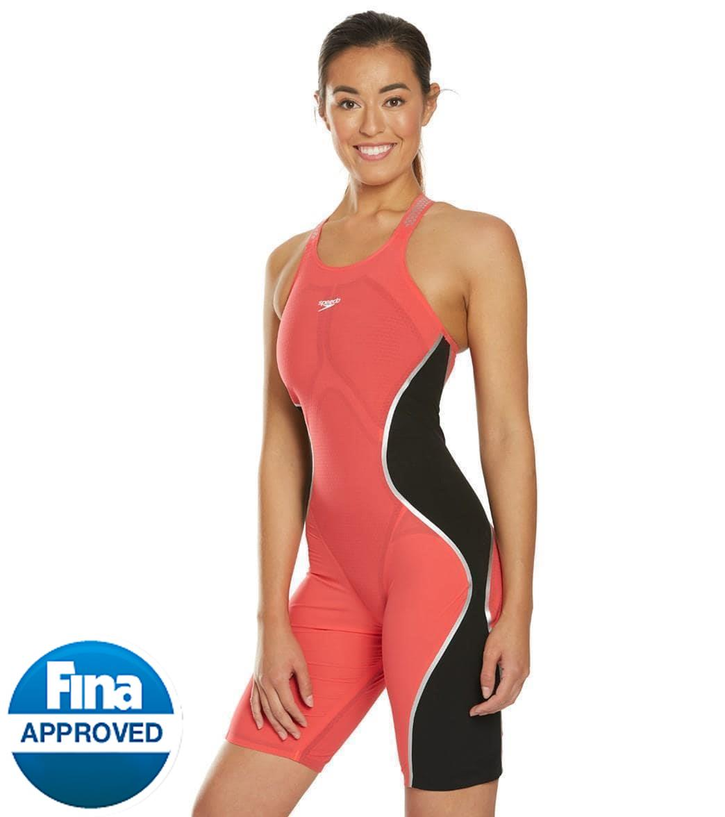 3d7b696e1ba71 Speedo Women's LZR Pure Intent Closed Back Kneeskin Tech Suit Swimsuit