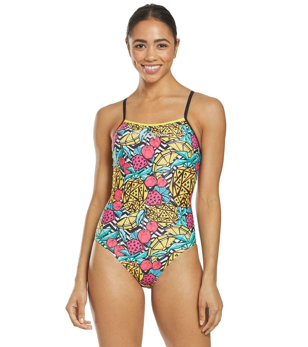 Amanzi Women's Pineapple Punch One Piece Swimsuit