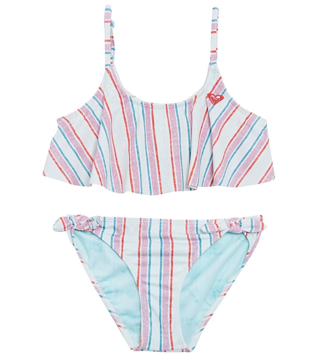 5bf3d0af12 Disney x Roxy Girls' Treasure Flutter Bikini Set (Little Kid, Big Kid) at  SwimOutlet.com - Free Shipping