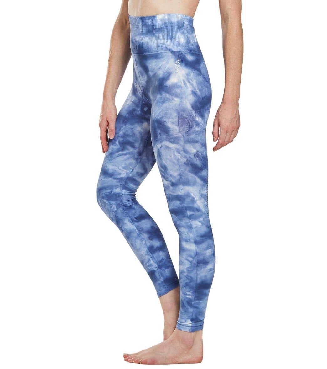 f675109f3a62 Free People Shanti Tie Dye Yoga Leggings at YogaOutlet.com - Free ...