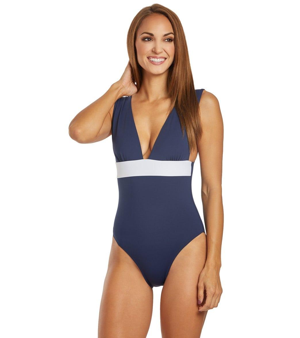 Azura Nautica Wide Strap One Piece Swimsuit