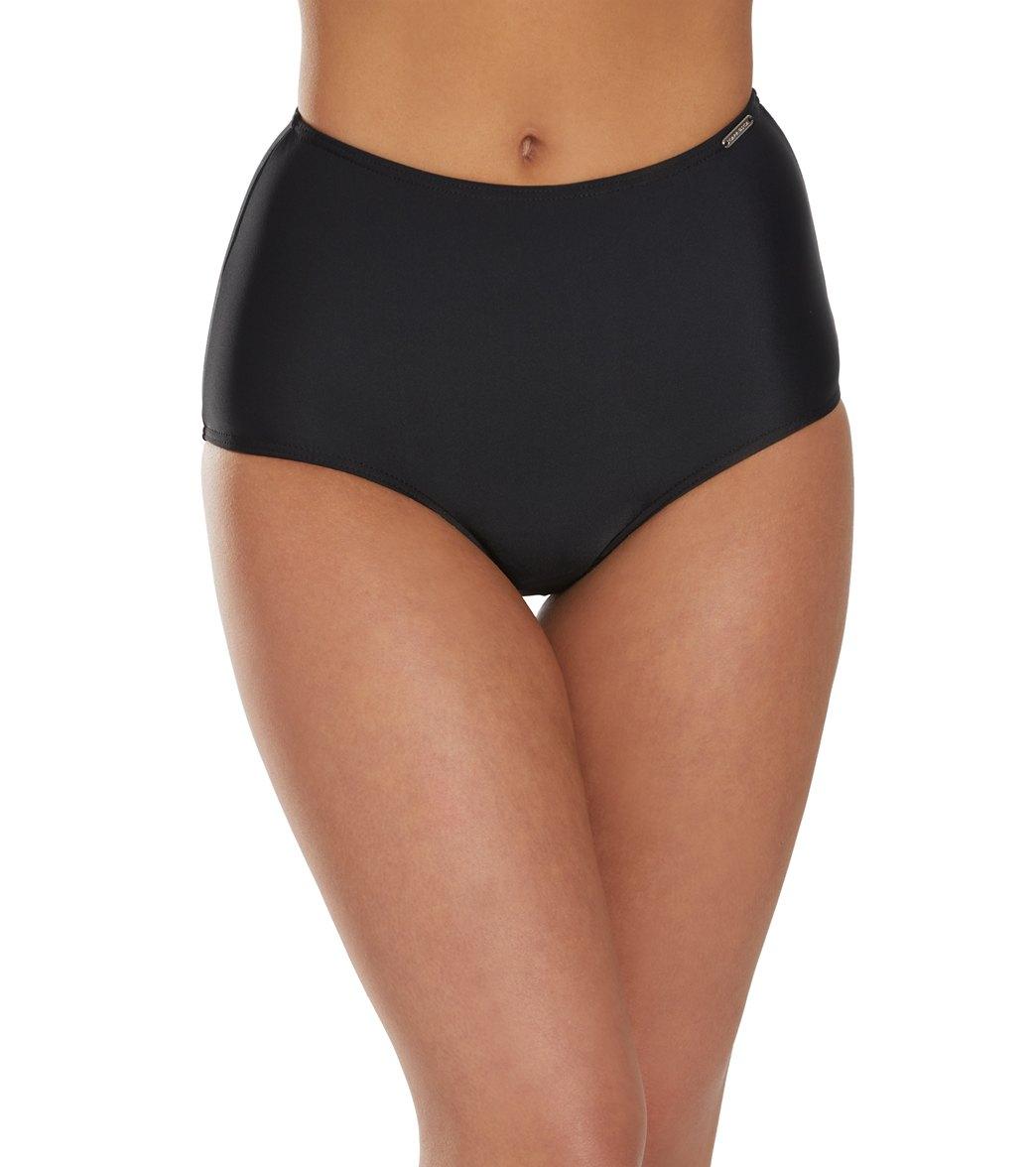 Capriosca Solid High Waisted Bikini Bottom