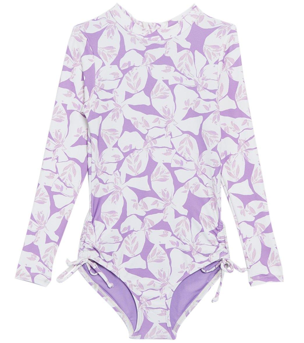 80b821e950cb O'Neill Girls' Coryn Long Sleeve One Piece Swimsuit (Little Kid, Big Kid)  at SwimOutlet.com - Free Shipping