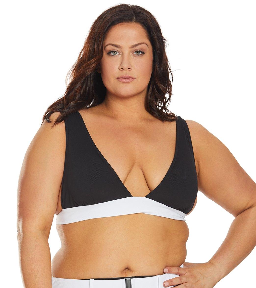 Volcom Womens Simply Rib Halter Bikini Top