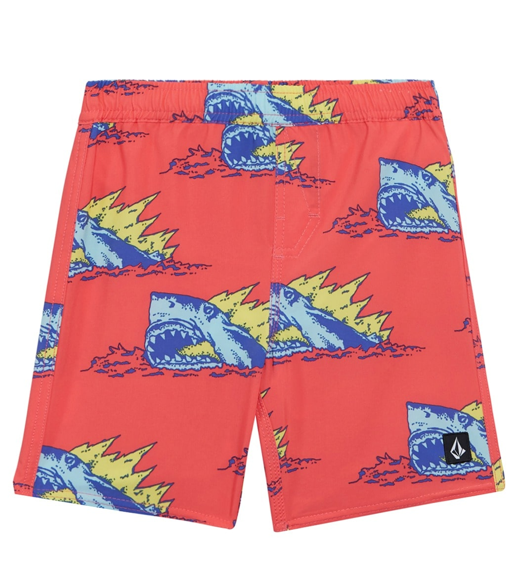 Colorful red Lips kiss Toddler Little Boys Swim Trunks Quick Dry Water Beach Board Shorts