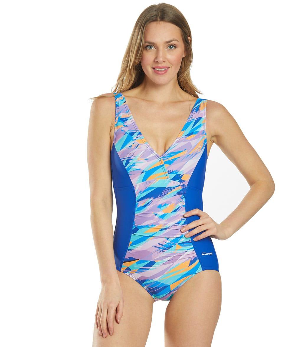 Waterpro Women's Wind Rush V-Neck One Piece Swimsuit