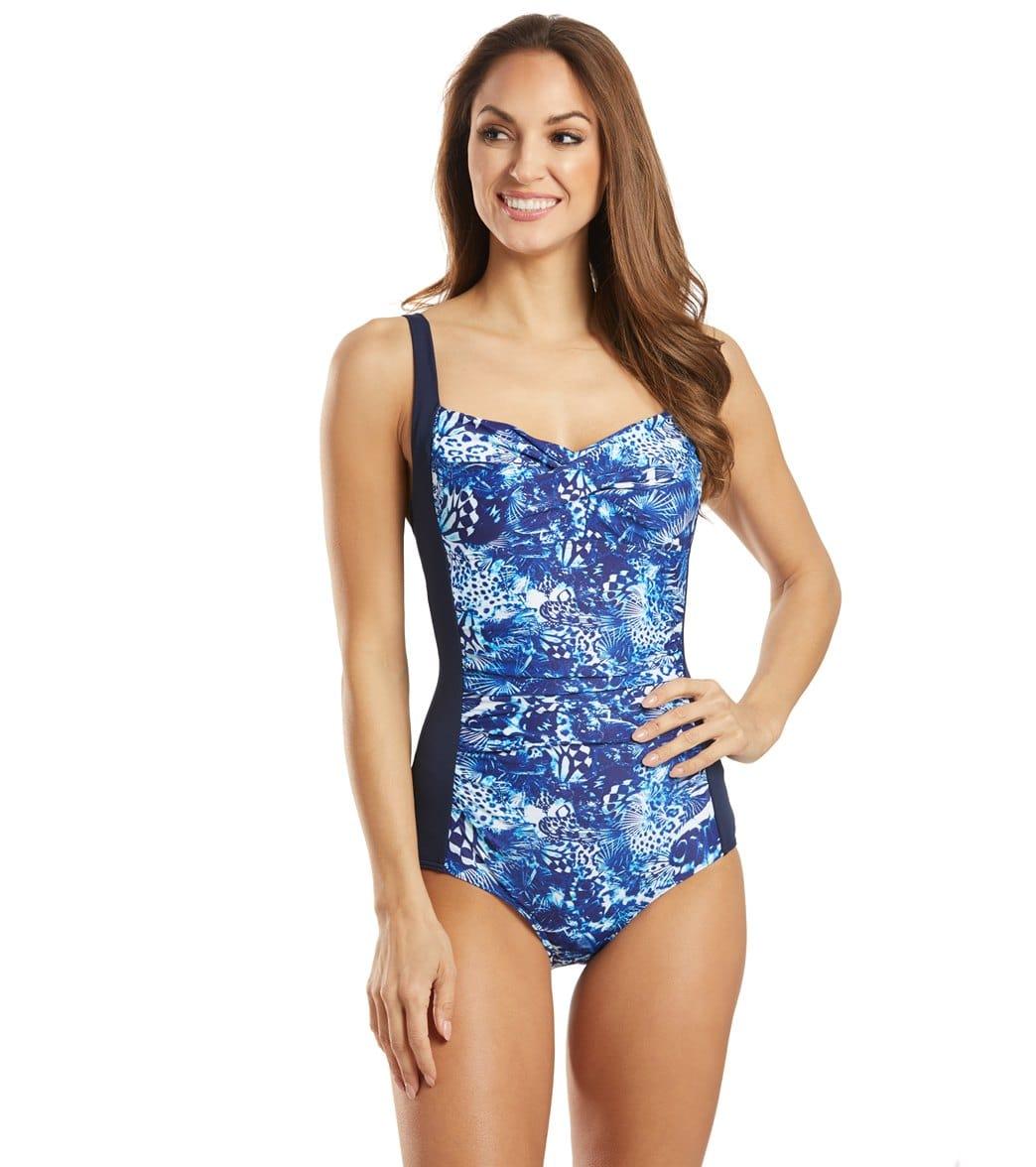 Funkita Women's Animalia Ruched One Piece Swimsuit Chlorine Resistant Swimsuit