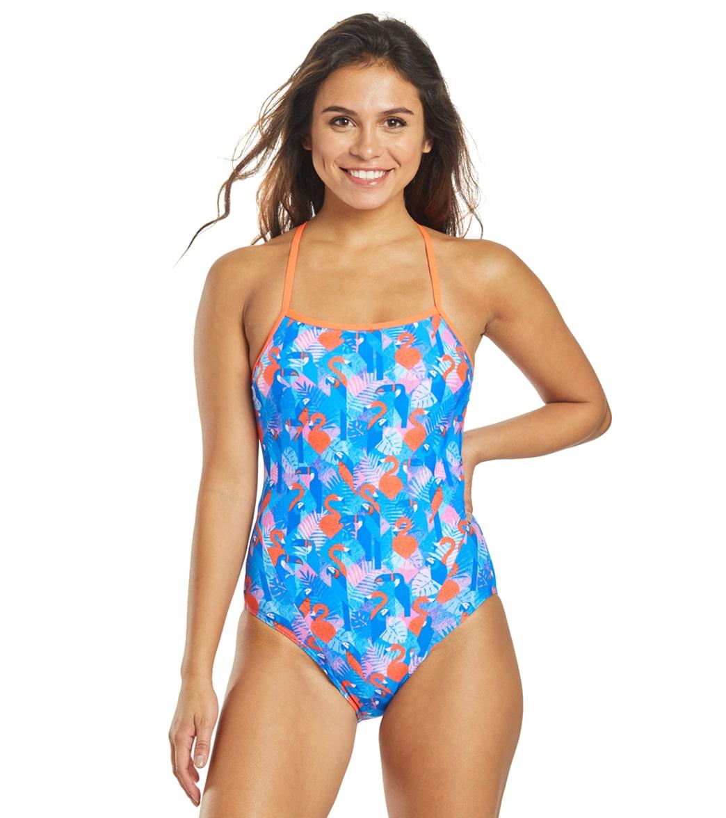 Funkita Women's Flaming Vegas Single Strap One Piece Swimsuit