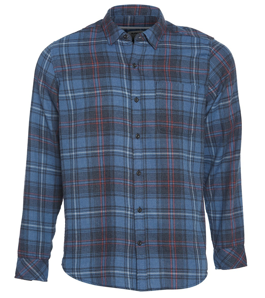New Boys Flannel Shirt Hurley Vedder Washed L//S Shirt Anthracite