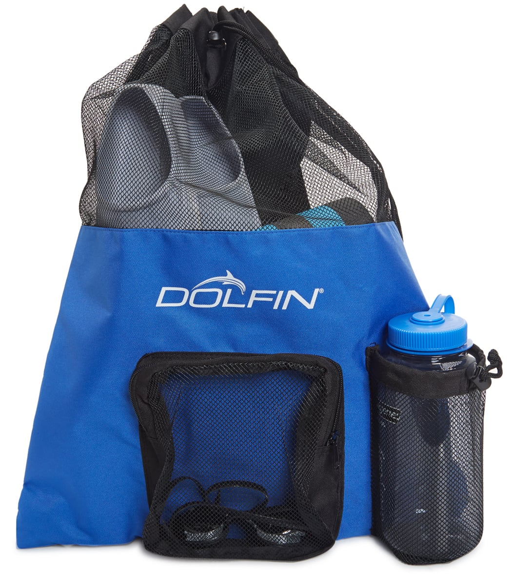 Dolfin Mesh Drawstring Swimming Bag Backpack