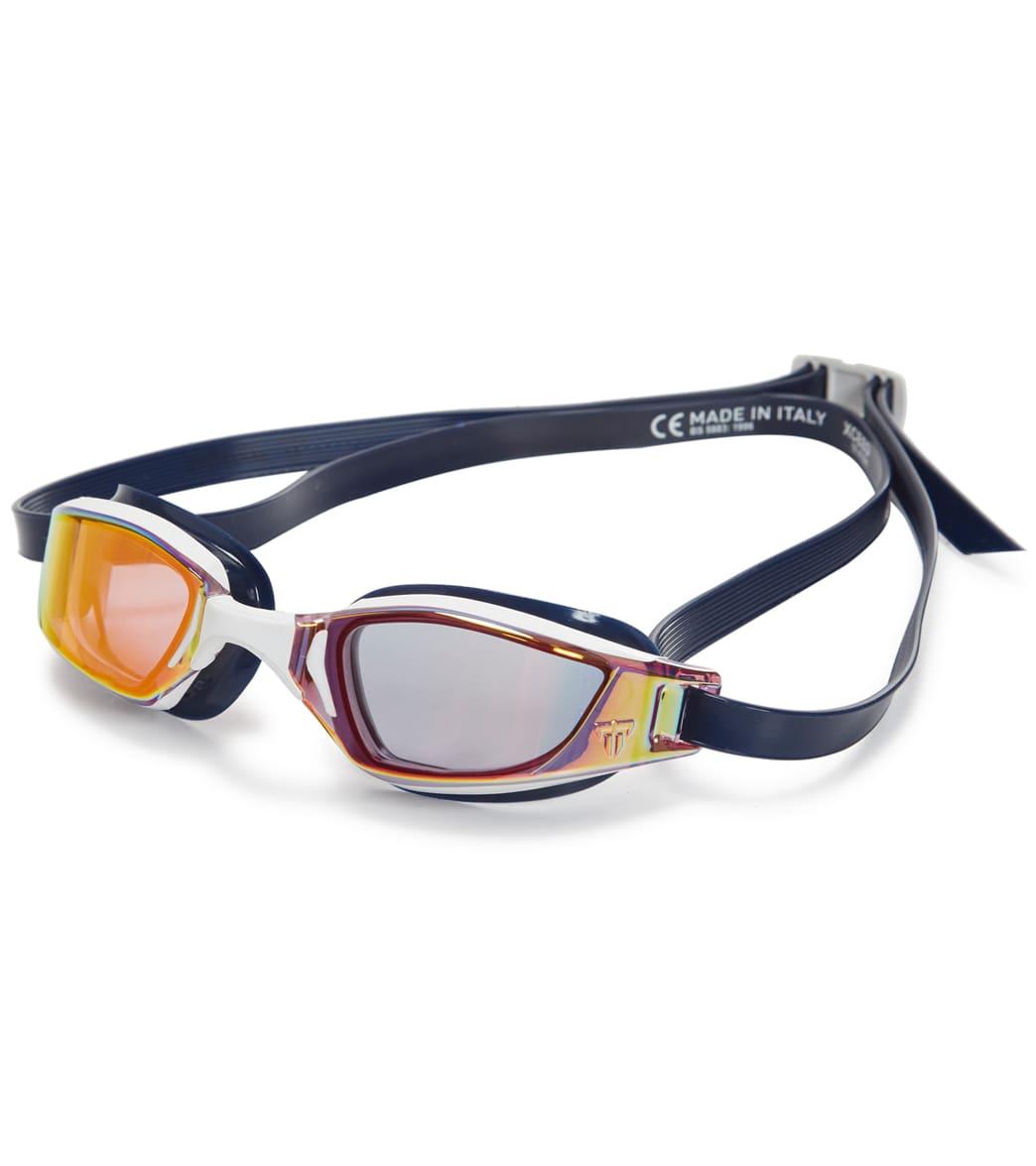 Phelps Xceed Red Titanium Mirrored Lens Swim Goggle