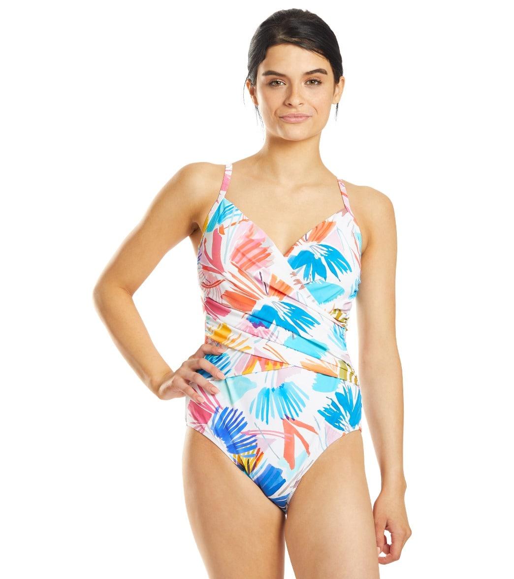 Profile By Gottex Splash Surplice One Piece Swimsuit