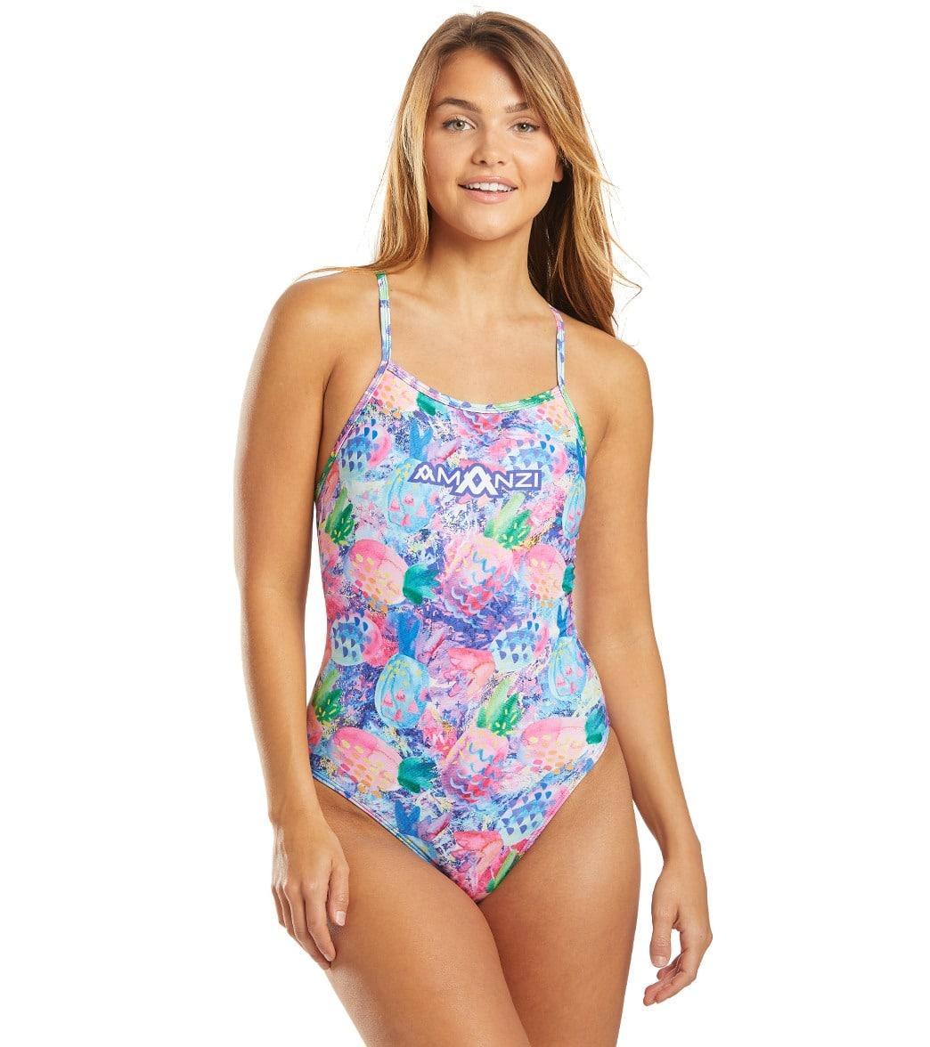 Amanzi Women's Fineapples One Piece Swimsuit