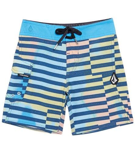 Stone Blue Marble Pattern Purple Mens Swim Trunks Bathing Suit Shorts Board Beach