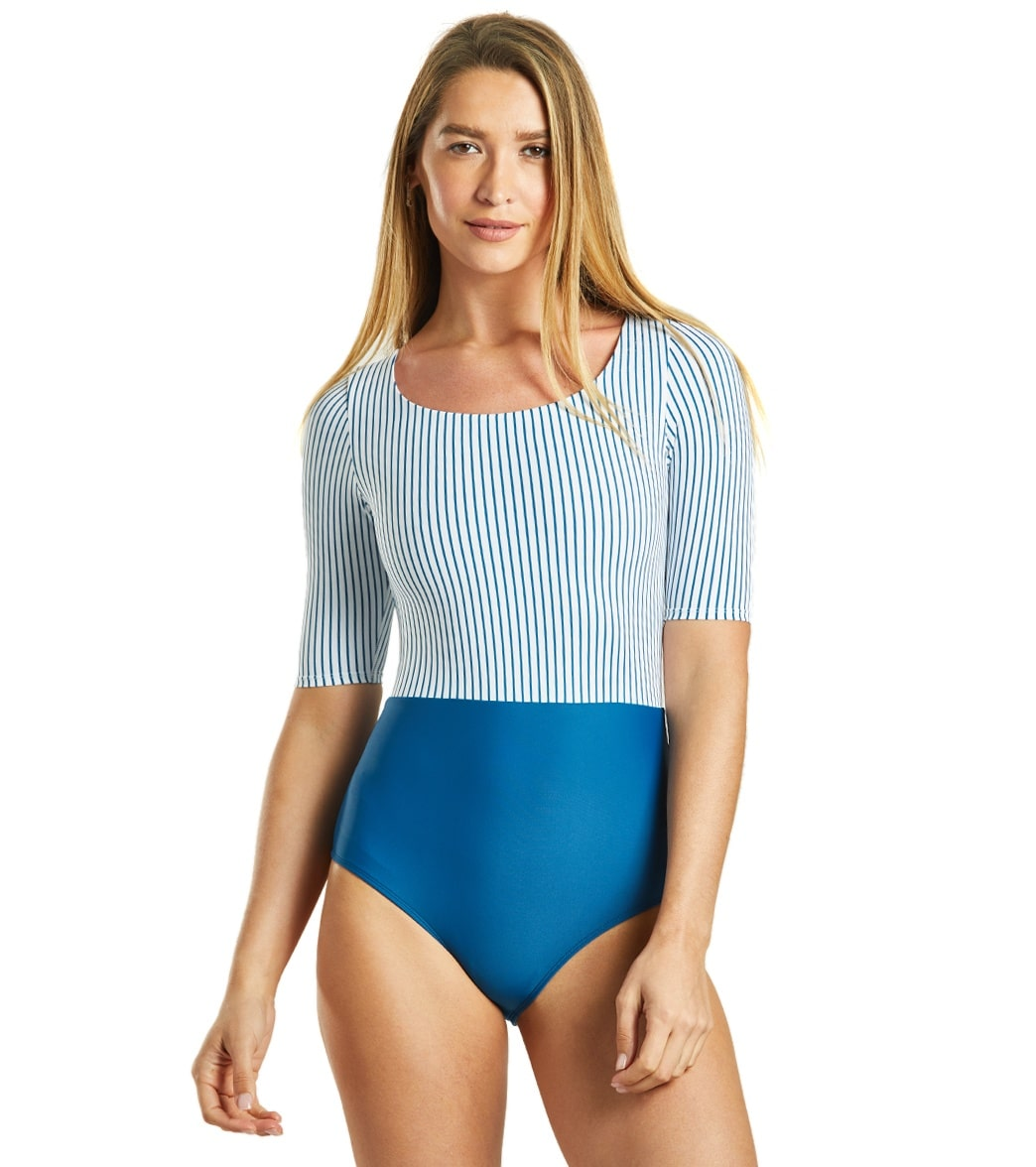 Body Glove Active Simply Me Kat Short Sleeve One Piece Swimsuit