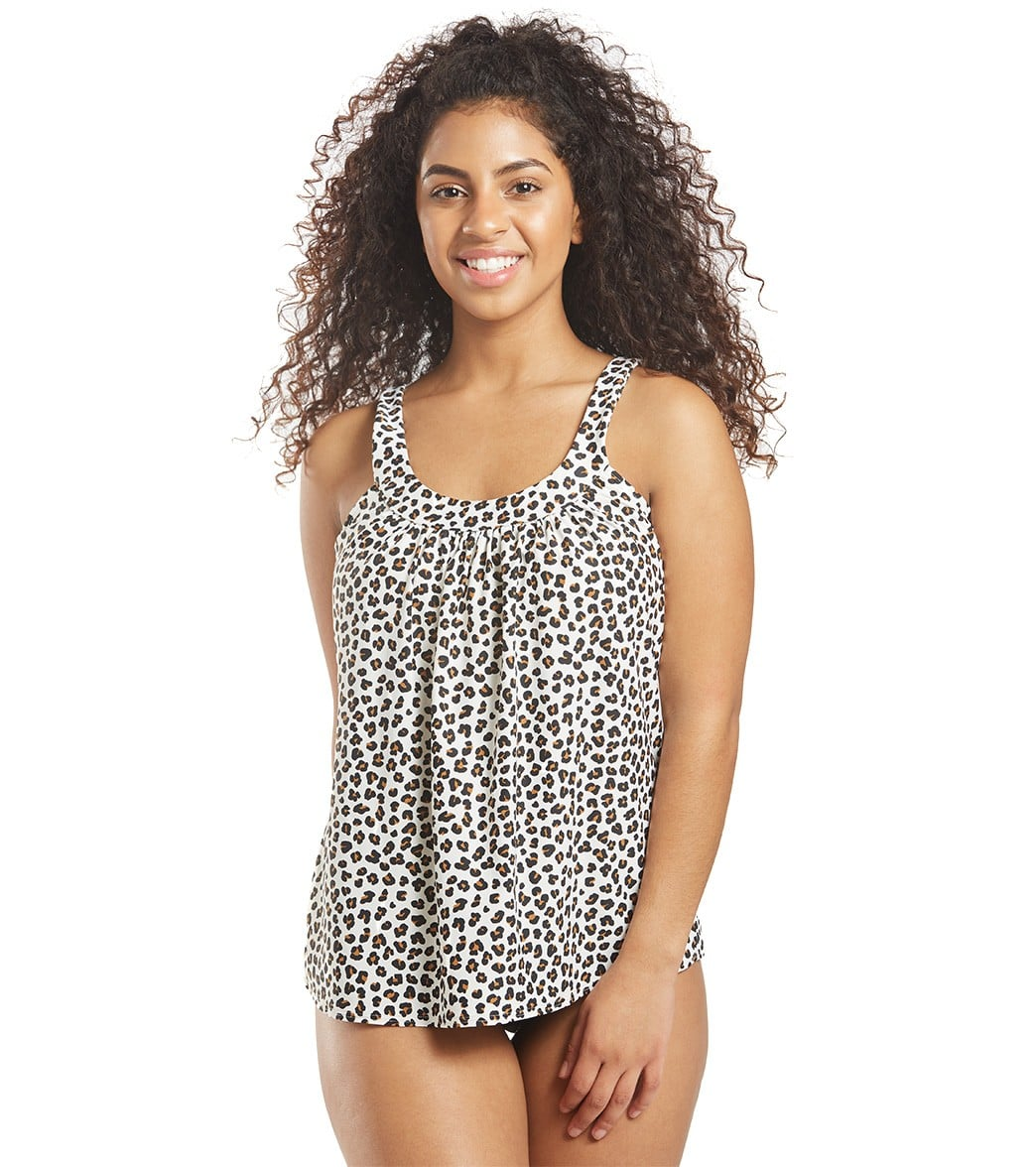 Coco Reef Cheetah Ultra Fit Underwire Tankini Top C-F Cup D-Cup