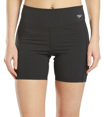 XXL, Black Women Swim Shorts Women Sport Sunscreen Elastic Bathing Bottom Skinny Capris Swim Shorts Trunks