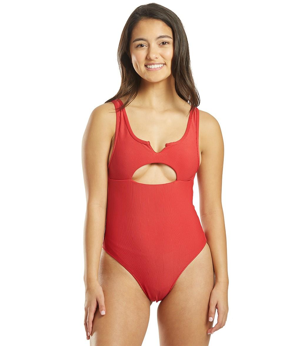 Frankies Bikinis Cody One Piece Swimsuit - Cherry