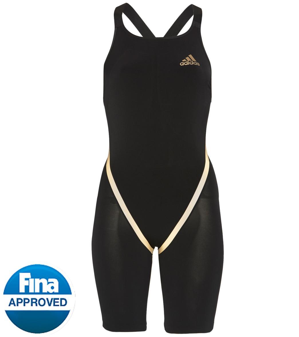 Adidas Women's Adizero Freestyle Open Back Tech Suit Swimsuit