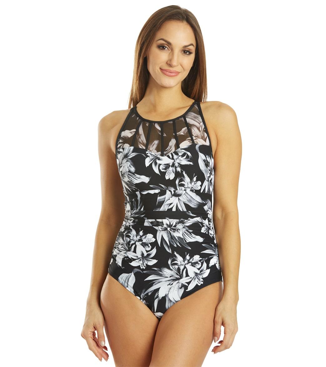 Azura Mastectomy Contour Belladonna High Neck One Piece Swimsuit