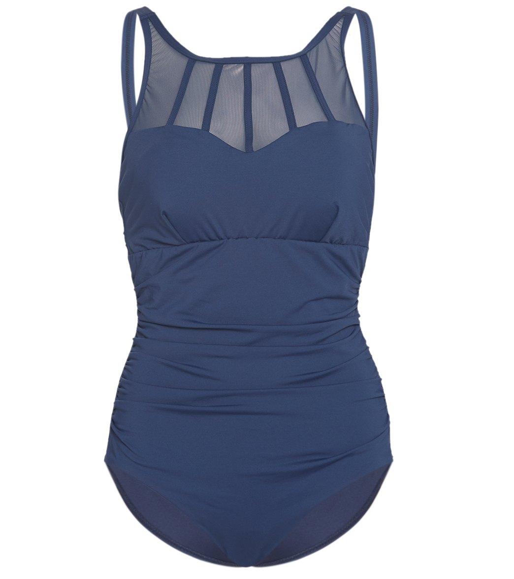 Azura Mastectomy Contour Mood High Neck One Piece Swimsuit