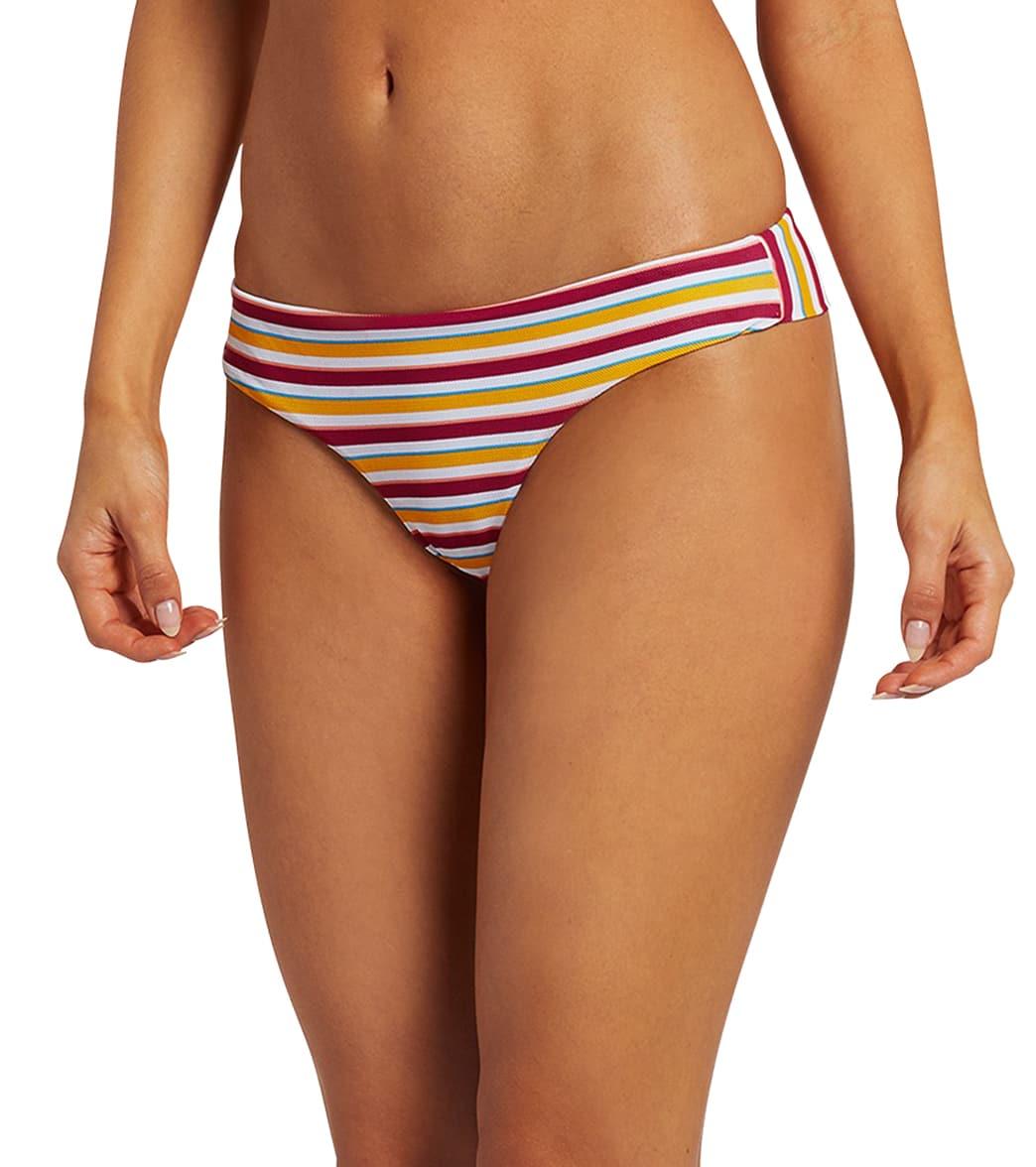 Volcom Women's Stripe While Haute Cheek Bikini Bottom