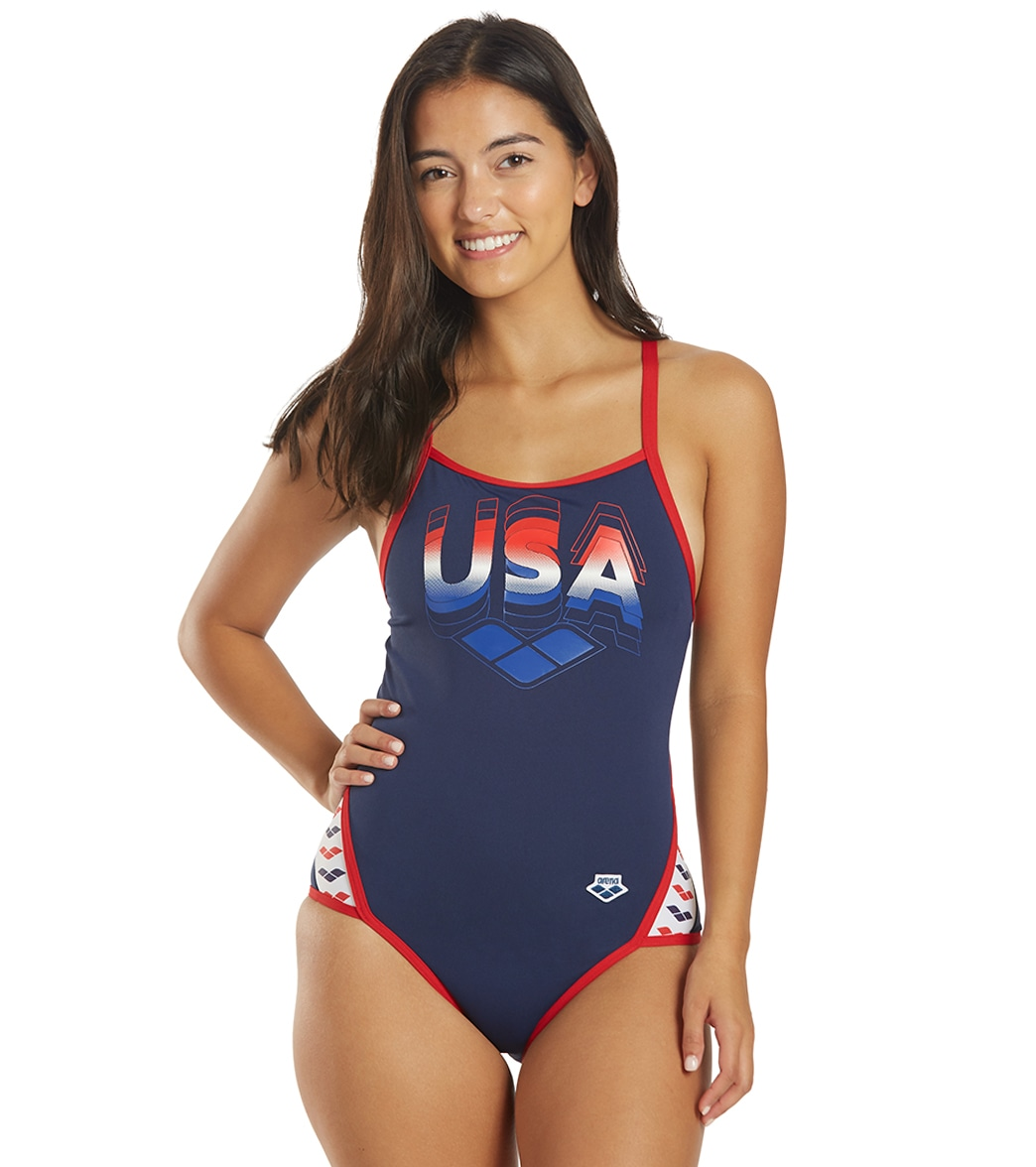 Arena Women's Mark Spitz Serigraphy Super Fly Back One Piece Swimsuit