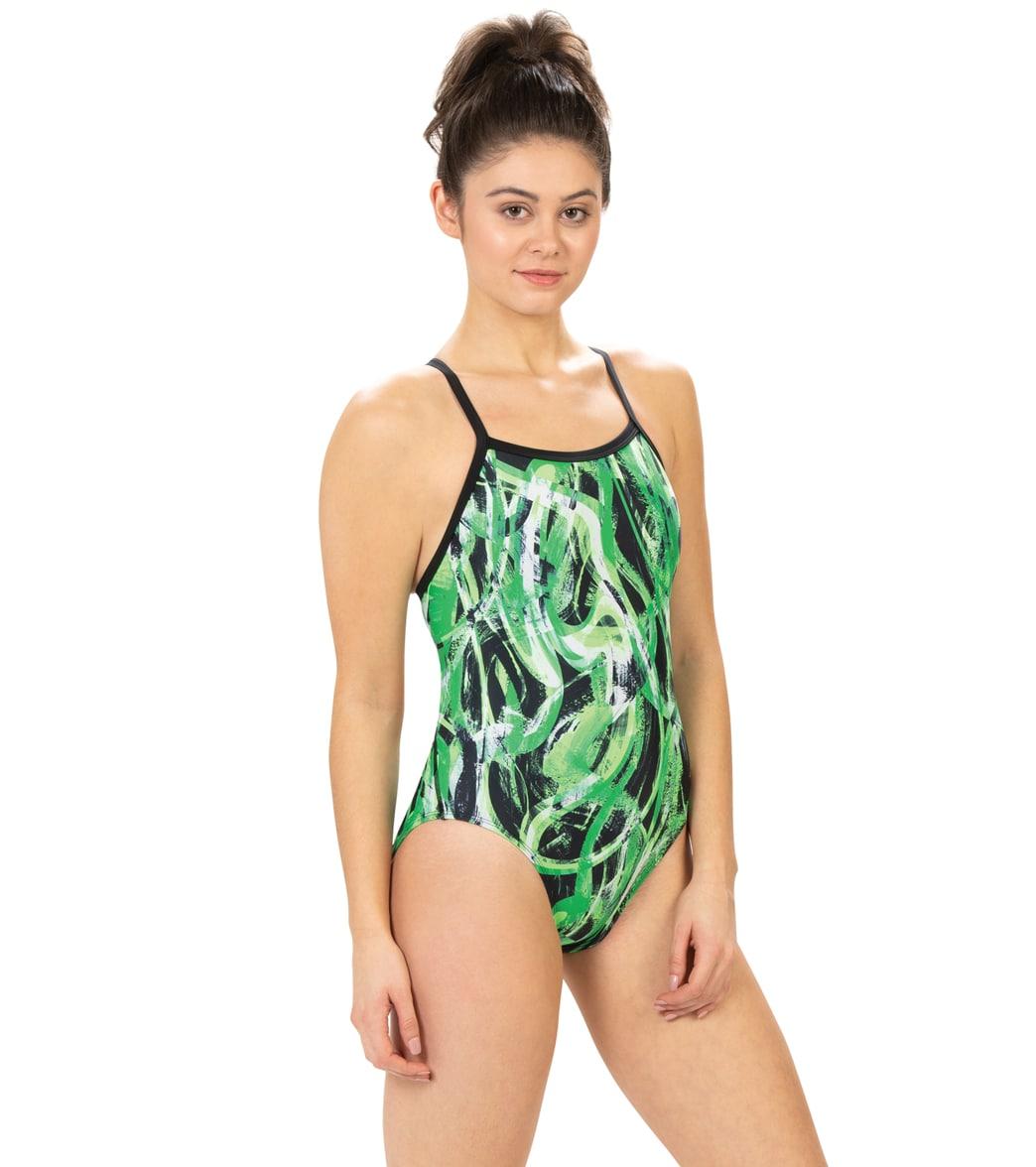 Dolfin Women's Xtrasleek Eco Supernova V-2 Back One Piece Swimsuit