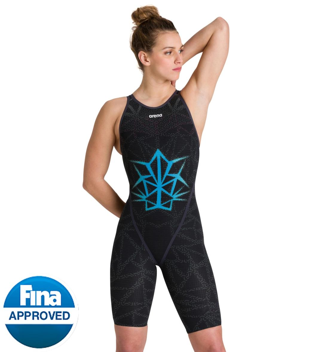 Arena Women's Limited Edition Bishamon Warrior Powerskin Carbon Glide Open Back Tech Suit Swimsuit