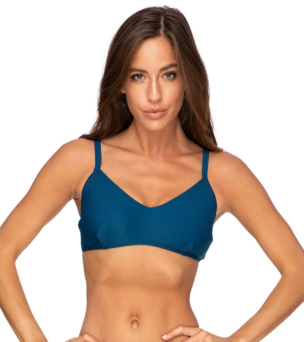 Azura Women's Pique Bralette Bikini Top Dd/E Cup