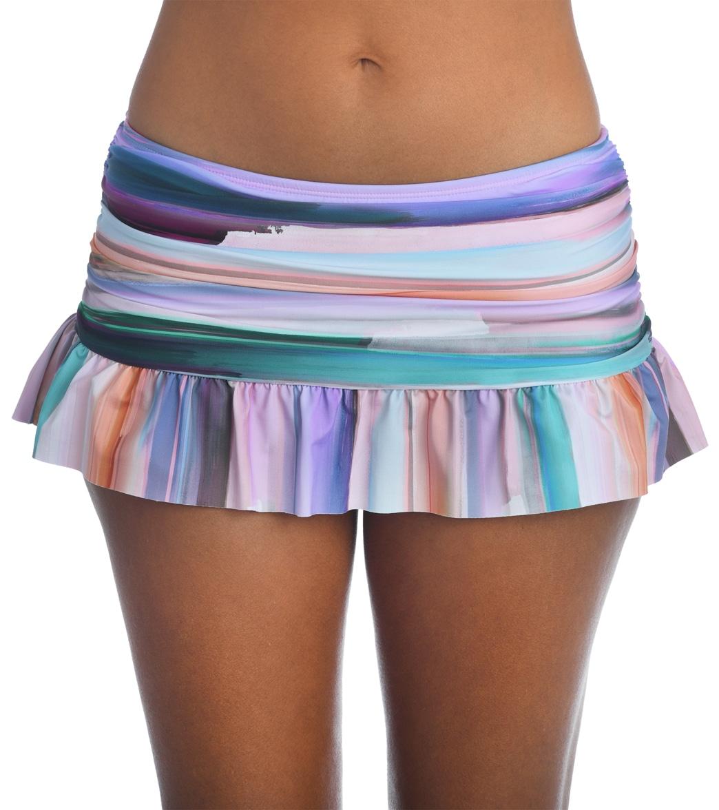 La Blanca Women's Ocean Tides Ruffle Skirt