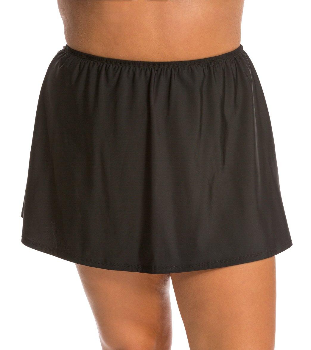 Topanga Plus Solid Swim Skirt
