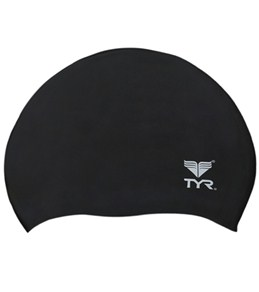 TYR Wrinkle-Free Silicone Junior Swim Cap