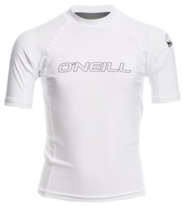 O'Neill Youth Basic Skins Performance Fit Short Sleeve Crew Rashguard