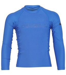 O'Neill Youth Basic Skins Performance Fit Long Sleeve Crew Rashguard
