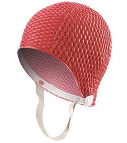 Sporti Bubble Swim Cap with Chin Strap
