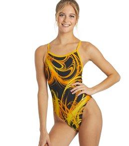 Sporti Light Wave Thin Strap One Piece Swimsuit