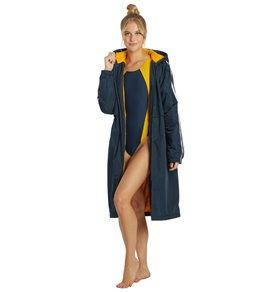 Sporti Striped Comfort Fleece-Lined Swim Parka
