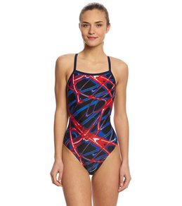 SwimOutlet Exclusive Waterpro Lightning Thin Strap One Piece Swimsuit