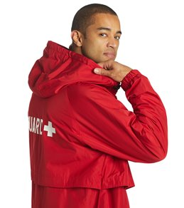 aa9b1e13625 Sporti Guard Comfort Fleece-Lined Swim Parka - Red Shell  Charcoal Lining -  Large